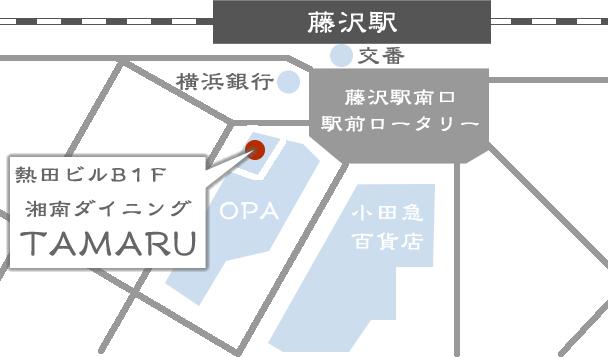 藤沢駅周辺地図